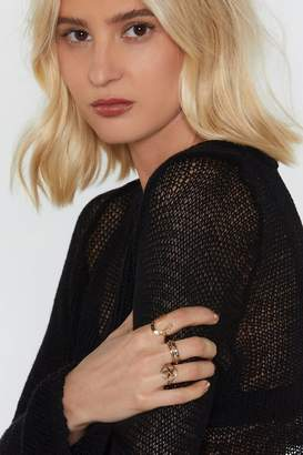 Nasty Gal Lay Down the Law 3-Pc Ring Set