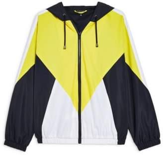 Topshop Texas Colorblock Windbreaker Jacket