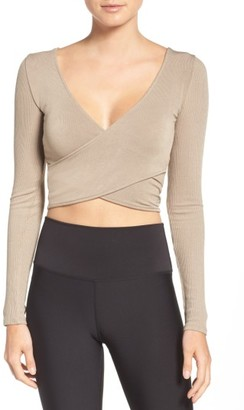 Women's Alo Ameilia Two-Way Crop Top $60 thestylecure.com