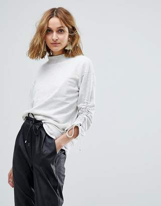 Vero Moda Ruched Sweatshirt