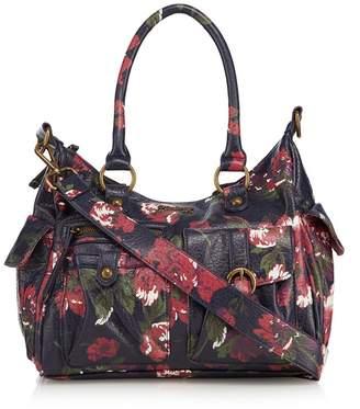 Mantaray Multi-Coloured Floral Print Shoulder Bag