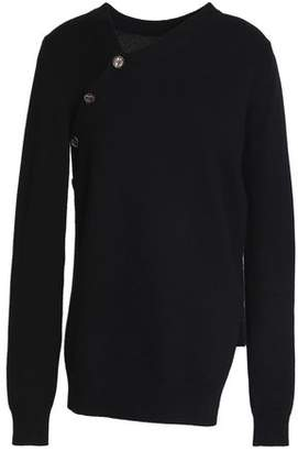 Proenza Schouler Button-Detailed Cashmere And Cotton-Blend Sweater