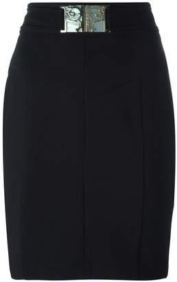 Versace belted skirt
