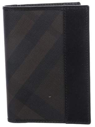 Burberry Leather-Trimmed Passport Holder
