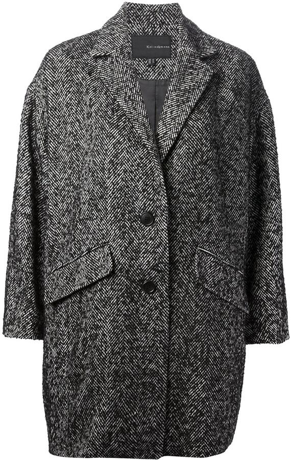 Kai-aakmann herringbone coat