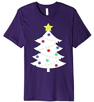 White Christmas Tree Decorated Holiday T-shirt