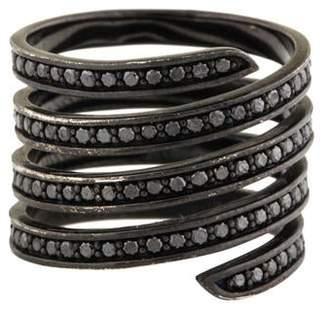 Lynn Ban Pavé Coil Ring