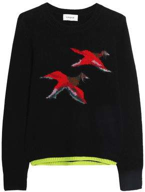 Coach Intarsia-Knit Cashmere-Blend Sweater