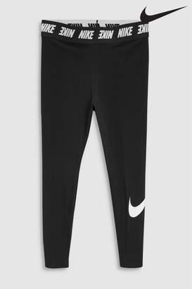 Next Womens Nike Curve Club High Wasted Black Legging