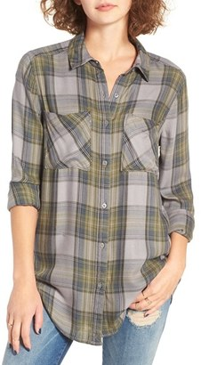 Women's Bp. Plaid Tunic Shirt $45 thestylecure.com