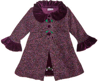 Blueberi Boulevard Toddler Girls 2-Pc. Tweed Coat & Embroidered Dress Set