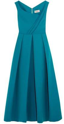 Preen by Thornton Bregazzi Finella Wrap-Effect Pleated Crepe Midi Dress