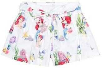 MonnaLisa Printed cotton shorts