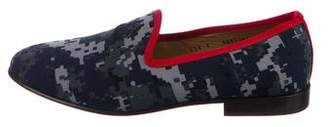 Del Toro Geometric Canvas Loafers