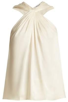 Elizabeth and James Blaine Twisted Sleeveless Twill Top - Womens - Ivory