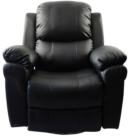 Newacme LLC MCombo Vibrating Swivel Reclining Massage Chair with Heated Lounge