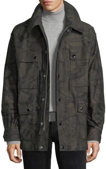 TOM FORD Camouflage-Print Four-Pocket Oversized Jacket