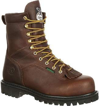 "Georgia Boot Men's Georgia 8"" Lace-To-Toe Steel Toe Work Boot Work Shoe"
