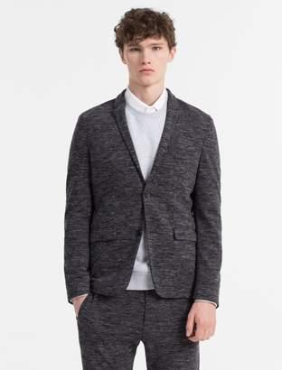 Calvin Klein slim fit melange jersey 2-button blazer