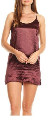 Olivaceous Satin Slip Dress