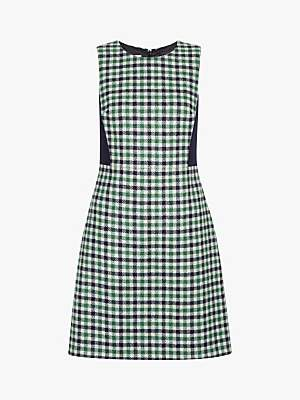 Hobbs Rosella Wool Dress, Ivory/Green