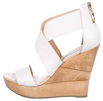 Diane von Furstenberg Leather Multistrap Wedges