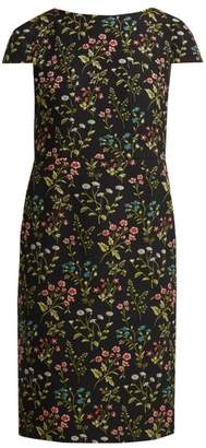 Erdem Marion Floral Jacquard Cotton Blend Dress - Womens - Black Multi