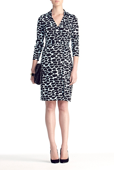 Diane von Furstenberg New Jeanne Two Dress In Spotted Cloud