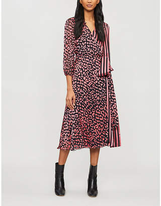 At Selfridges Alice Olivia Aail Printed Devoré And Silk Satin Midi Wrap Dress