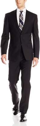 DKNY Men's Driver 2 Button Side Vent Modern Fit Suit 2 Piece