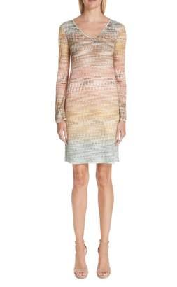 275c5dc0f97 Missoni Zig Zag Metallic Knit Dress