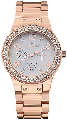 Timothy Stone Women's 'Facon' Crystal Bezel Boyfriend Watch