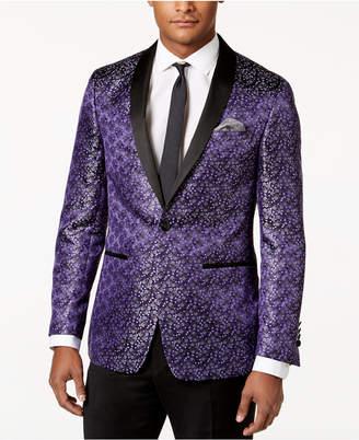 Tallia Men's Slim-Fit Purple Floral Dinner Jacket $350 thestylecure.com