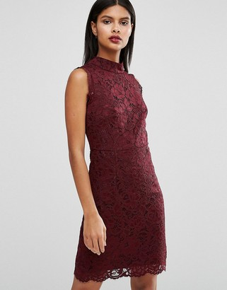 Ted Baker Latoya High Neck Mini Dress in Lace $314 thestylecure.com