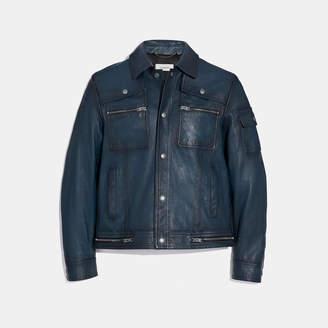 Coach Snap Front Moto Jacket