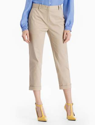 Calvin Klein skinny fit cotton blend cropped pants