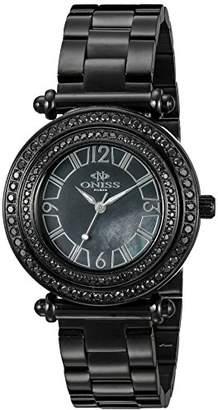 Adee Kaye Women's ON8182N-LIPB/BK-C Bello Collection Analog Display Swiss Quartz Watch