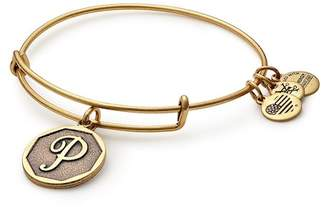 Alex and Ani Initial 'P' Charm Expandable Wire Bracelet