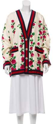 Gucci Silk Floral Cardigan w/ Tags multicolor Silk Floral Cardigan w/ Tags