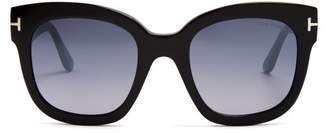 Tom Ford Beatrix Square Frame Sunglasses - Womens - Black Multi