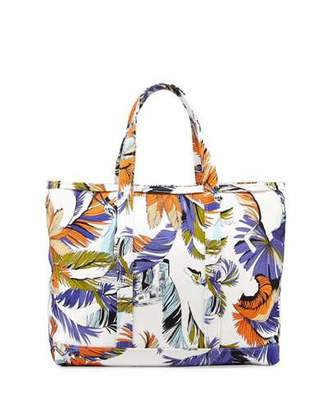 Emilio Pucci Jungle-Print Canvas Tote Bag, White Print $790 thestylecure.com