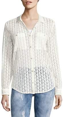 The Kooples Women's Flower Print Button-Down Shirt