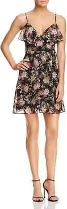 Bailey 44 Object of Desire Floral Print Faux-Wrap Dress