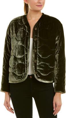 Rebecca Taylor Quilted Velvet Jacket