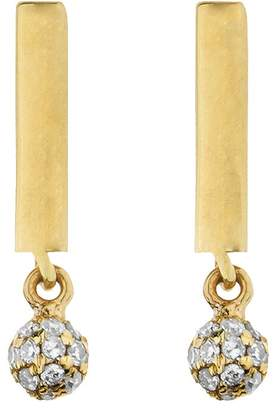 Lee Jones Collection Diamond Candy Bar BonBon Stud Earrings - Yellow Gold