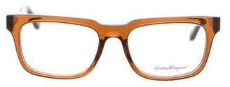 Salvatore Ferragamo Bicolor Logo Eyeglasses w/ Tags