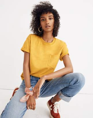 Madewell Garment-Dyed Easy Crop Tee