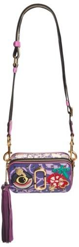 Marc JacobsMarc Jacobs Tapestry Snapshot Crossbody Bag - Purple