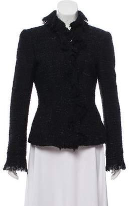 Armani Collezioni Fringe-Accented Wool Jacket