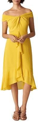 Whistles Eriko Off-the-Shoulder Dobby Dress